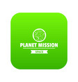 space mission icon green vector image vector image