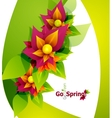 Spring flower abstract background vector image