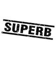 square grunge black superb stamp vector image vector image
