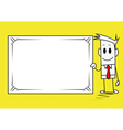 Square guy-banner vector image