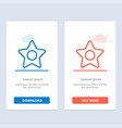 star media studio blue and red download and buy vector image