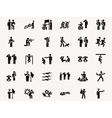 Stick figures Military vector image