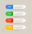 Sticker Label color set vector image vector image