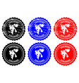 svalbard rubber stamp vector image vector image