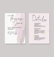 tender rose ink gold foil wedding cards with vector image vector image