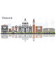 venice italy city skyline with color buildings vector image