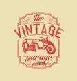 vintage garage vector image