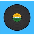 Vinyl record on the blue background vector image vector image