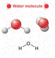 Water molecule icons vector image vector image