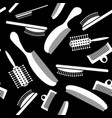 white plastic combs seamless pattern vector image