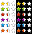 whole half and blank rating stars vector image vector image