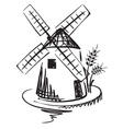 windmill vector image