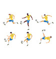 woman soccer players set in action vector image vector image