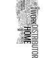 work from home it s that easy text word cloud vector image vector image