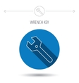 Wrench key icon Repair tool sign vector image vector image