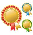 Blank awards ribbons vector image