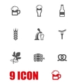white Oktoberfest icon set vector image