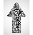 arrow with gears vector image