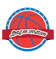 isolated basketball emblem vector image