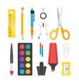 school set stationery vector image
