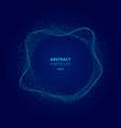 abstract illuminated blue circle shape vector image vector image