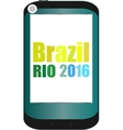 Brazil Rio 2016 Summer Games smart phone vector image vector image