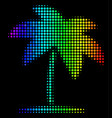 bright dotted island tropic palm icon vector image vector image