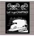 chalk board invitation in the Camping Lettering vector image vector image