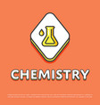 chemistry icon with test tube vector image vector image