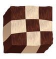 chess cake icon cartoon style vector image