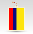 colombian flag made in tag vector image vector image