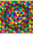 colored spherical 3d background vector image vector image