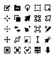 Controls and Navigation Arrows 1 vector image vector image