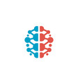 creative smart colored brain logo vector image vector image