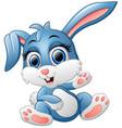 cute bunny waving hand vector image