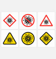 different stop coronavirus signs set isolated vector image
