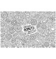 doodle cartoon set of donuts objects and vector image