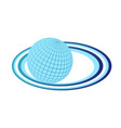 earth planet logo object element retro of vector image