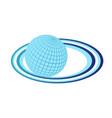 earth planet logo object element retro vector image
