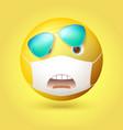 emotion surprise emoji emoticon vector image
