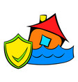 flood insurance icon cartoon vector image vector image