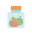 glass canning jar vector image vector image