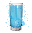 Glass with water splashes vector image vector image