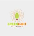 green light botanics logo vector image vector image