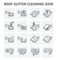 gutter cleaning icon vector image vector image