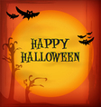 Halloween night sky background and icons vector image
