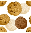 Hand drawn cookie seamless vector image vector image