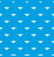 happy day pattern seamless blue vector image