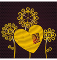 heart of gold vector image vector image