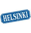 helsinki blue square grunge retro style sign vector image vector image